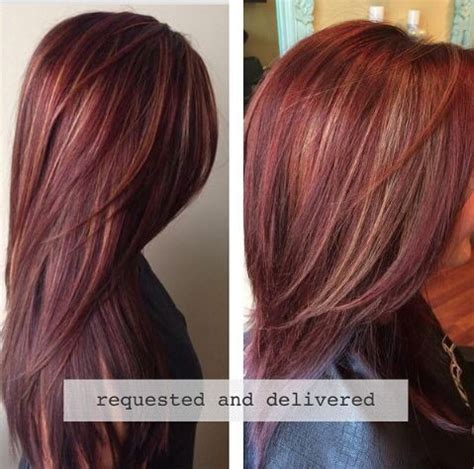 best highlights for redheads how to rich red hair color with golden caramel highlights