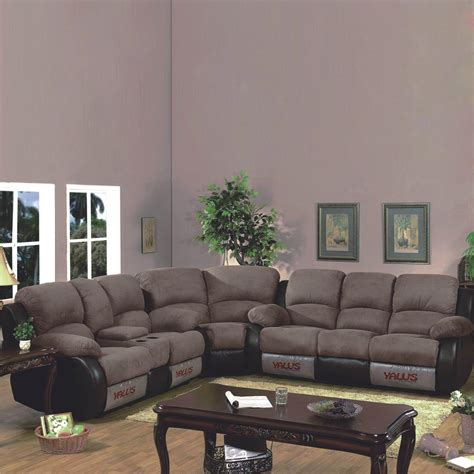 3 recliner sectional 3 piece sectional sofa with recliner traditional deal