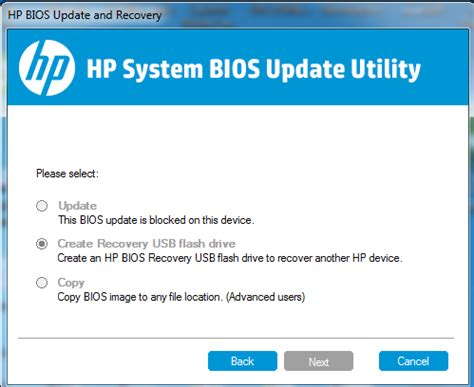 bios reset tool hp hp system bios update utility not working hp support