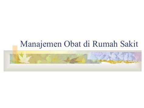 tesis akuntansi di rumah sakit manajemen obat di rumah sakit