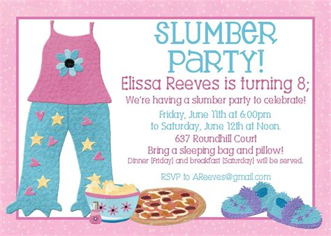 free sleepover birthday invitations printable free printable slumber birthday invitations drevio invitations design