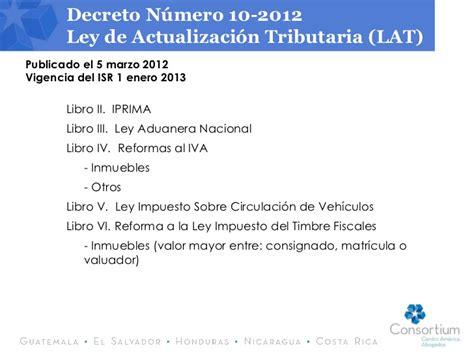 ley del isr guatemala actualizada al decreto 4 2012 nueva ley del impuesto sobre la renta guatemala