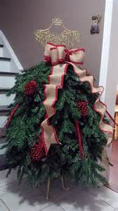 Christmas Tree Decorating Ideas Ribbon Garland - 1000 images about dress form christmas trees on pinterest