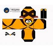 Angry Birds Papercraft Templates Power Rangers Cubeecraft