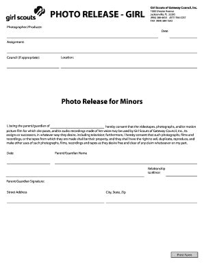 photo release form for minors fill out online documents