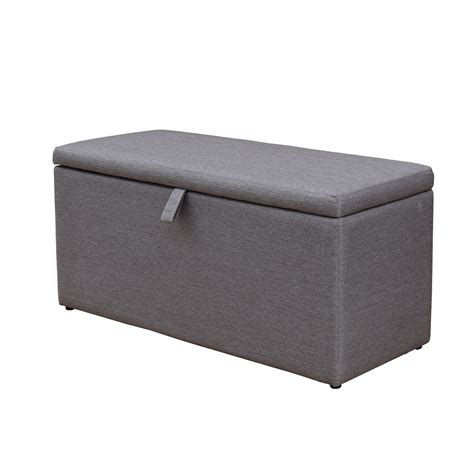 Gray Ottoman Grey Ottoman Linon Judith Ottoman With Jewelry Storage In Grey 497333 Abby Storage Ottoman