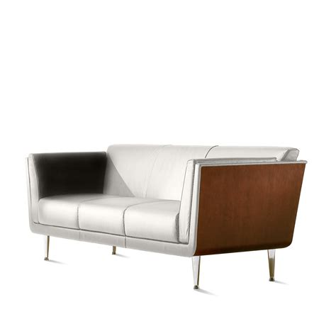 herman miller goetz sofa goetz sofa leather by herman miller from circle at home