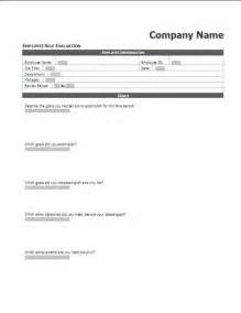 Self Assessment Templates Employees by Employee Performance Self Evaluation Assessment