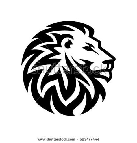abstract lion head logo stock vector 523477444 shutterstock