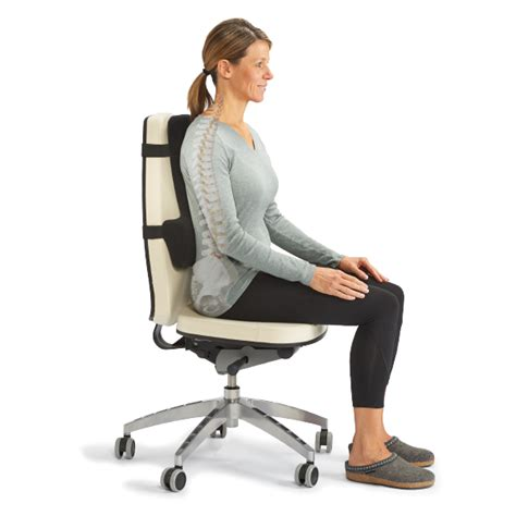 sit in the chair or sit on the chair thoracic lumbar back support sitting posture optp