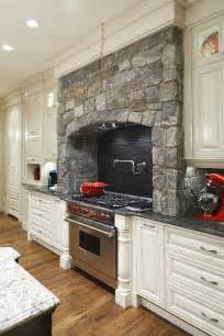 kitchen stove designs stone surrounds gas cooking stove in this traditional
