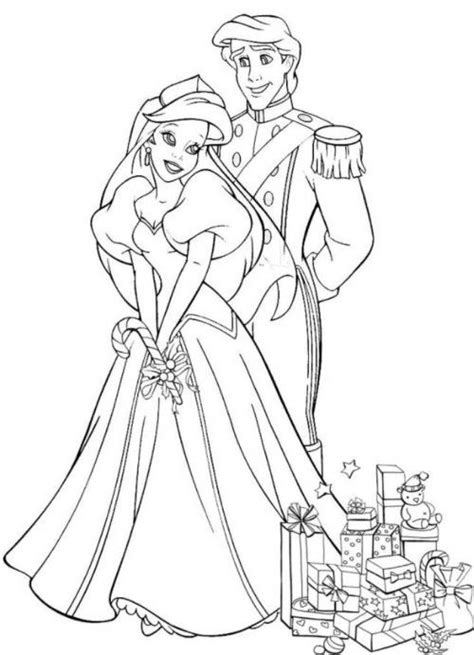 ariel wedding coloring pages ariel and eric coloring pages download ariel and eric