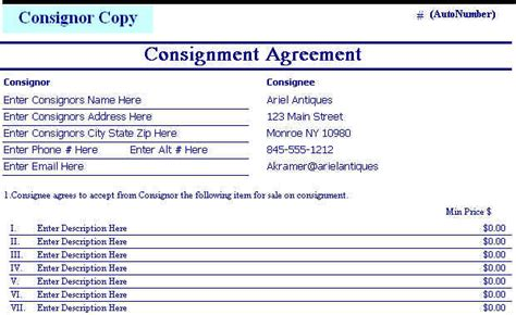Art Dealers Inventory And Point Of Sale Software Consignment Agreement Point Of Sale Contract Template
