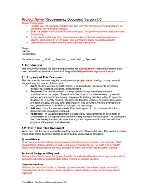 document template requirements document template tristarhomecareinc