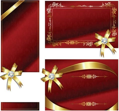ribbon for card bow ribbon card vector free vector in encapsulated