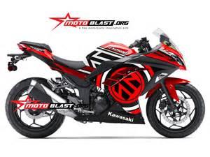 modif striping kawasaki ninja250r fi merah motoblast