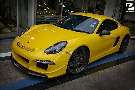 ruf porsche wide body porsche cayman s with ruf body kits and adv1 wheels