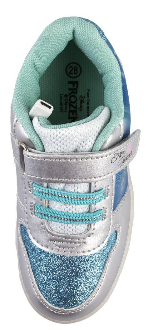 Led Frozen Walker Shoes disney frozen led light up trainers usb elsa