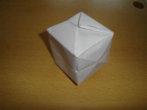 3d Origami Cube - origami cube by elitenavyseal on deviantart
