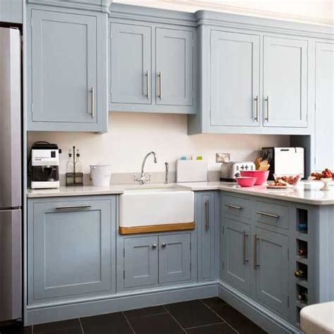 Blue Grey Kitchen Cabinets | the little white house on the seaside blues in the sea
