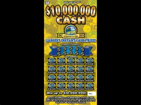 Instant Win Lottery Tickets - 30 10 000 000 cash lottery scratch off instant win