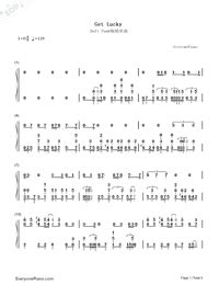 daft punk up all night chords get lucky daft punk free piano sheet music piano chords