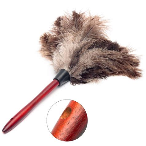 Cleaning Duster 20cm ostrich feather home cleaning duster brush wood