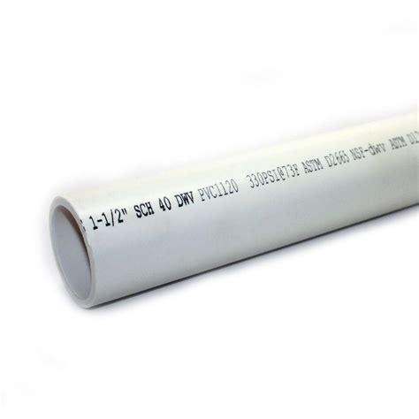 1 1 2 in x 10 ft pvc sch 40 dwv plain end pipe 531111