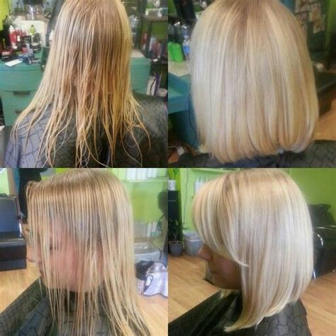 long layed and angled bob with side bang hairstyles long angle bob with side bangs christine ehmann beauty
