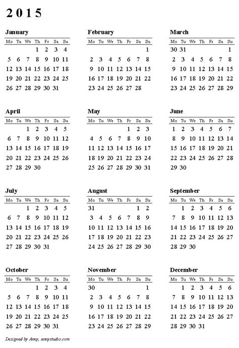 Calendars 2015 Printable 2015 Calendar Printable New Calendar Template Site