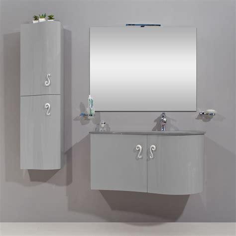 mobili bagno grigio arredobagno asia 2 cm 90 o 110 con lavabo in cristallo