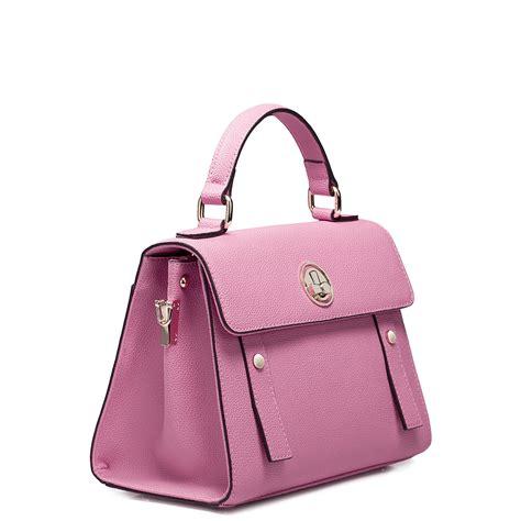 Purse Nucelle Pink 070347 04 bolsos de trapillo pink leather handbags for