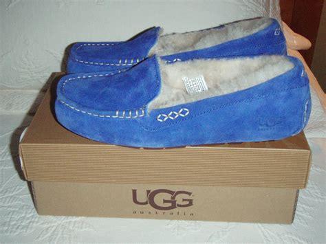 blue ugg slippers nib womens ugg australia ansley slipper sapphire blue sz