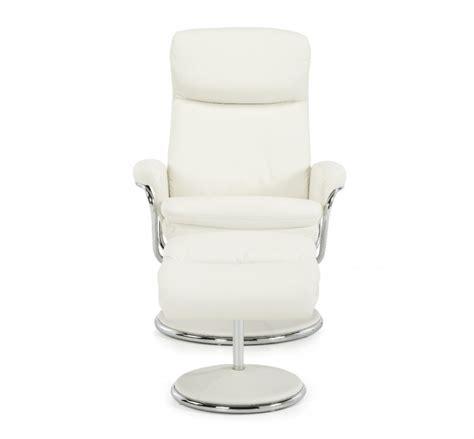 White Leather Recliner Chair by Serene Halden White Faux Leather Recliner Chair By Serene