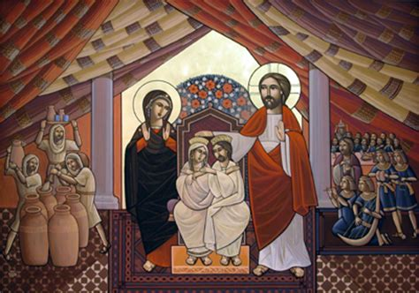 Wedding At Cana Icon by Catholic Caucus Daily Mass Readings 01 19 15