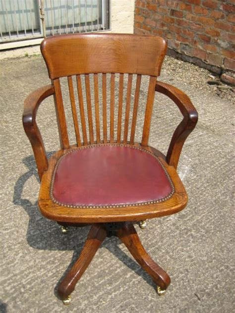 Oak Swivel And Tilt Desk Chair Antiques Atlas Oak Swivel Chair