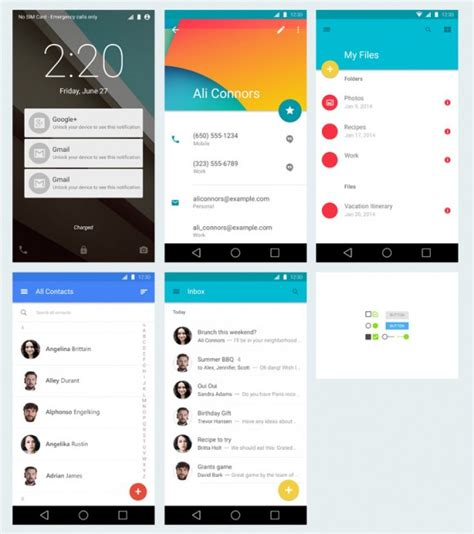 android design graphical layout android material design freebiesbug