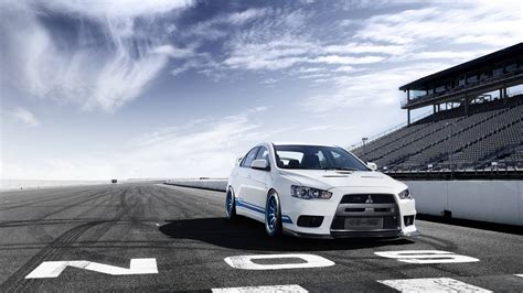 white mitsubishi evo wallpaper white lancer evolution x wallpaper hd wallpaper