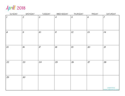 printable calendar you can edit custom editable free printable 2018 calendars sarah titus