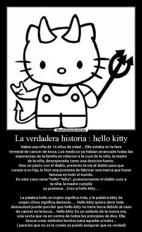 imagenes de hello kitty verdadera la verdadera historia hello kitty desmotivaciones