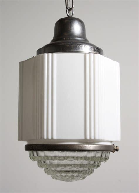 Antique Art Deco Skyscraper Pendant Light With Two Part Deco Pendant Lighting