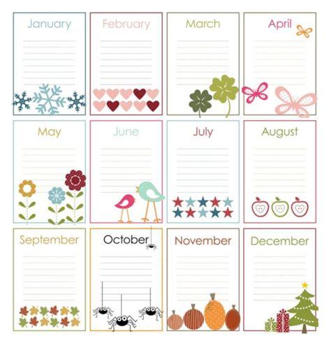 birthday calendar template free download free printable perpetual calendars the birthday display
