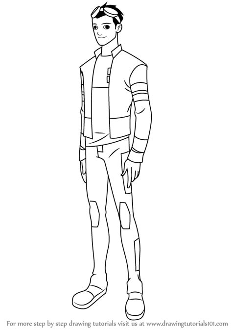 drawing generator learn how to draw rex salazar from generator rex