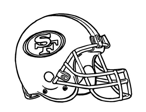 Drawing 49ers Logo by Football Helmet San Francisco 49ers Coloring Page For