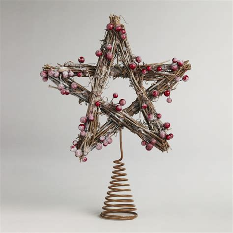iced berry twig tree topper world market