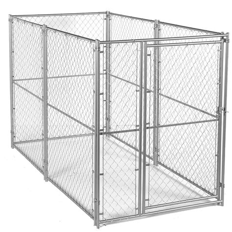 heat l for dog kennel lucky dog 6 ft h x 5 ft w x 10 ft l modular chain link