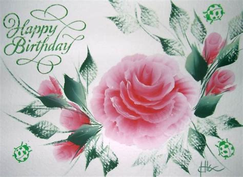 Happy Birthday Wishes Roses Happy Birthday Flowers Roses The Card Is 5 X 7 And