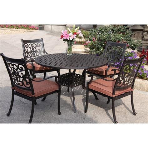 Patio Dining Sets For Two Darlee St 5 Patio Dining Set In Antique
