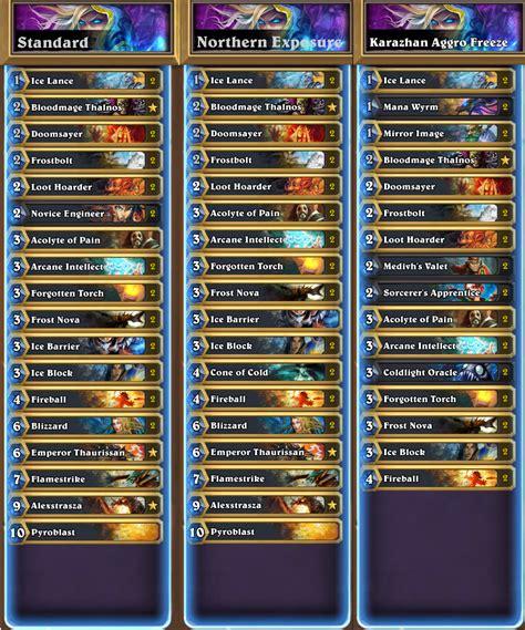 mage deck freeze mage variations standard updated hearthstone decks