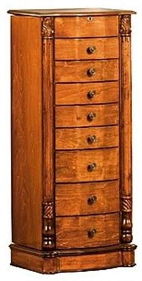 solid wood jewelry armoire louis xvi 8 drawer solid wood jewelry armoire stand